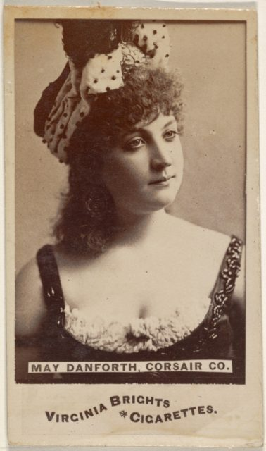 May Danforth, Corsair Co., from the Actors and Actresses series (N45, Type 6) for Virginia Brights Cigarettes