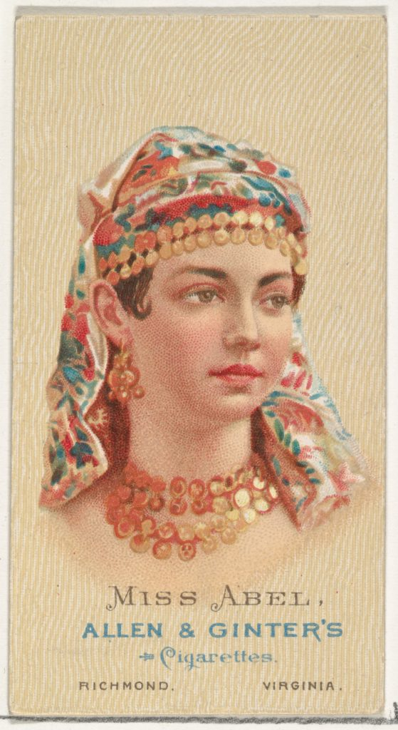 Miss Abel, from World's Beauties, Series 2 (N27) for Allen & Ginter Cigarettes
