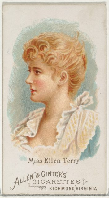 Miss Ellen Terry, from World's Beauties, Series 1 (N26) for Allen & Ginter Cigarettes