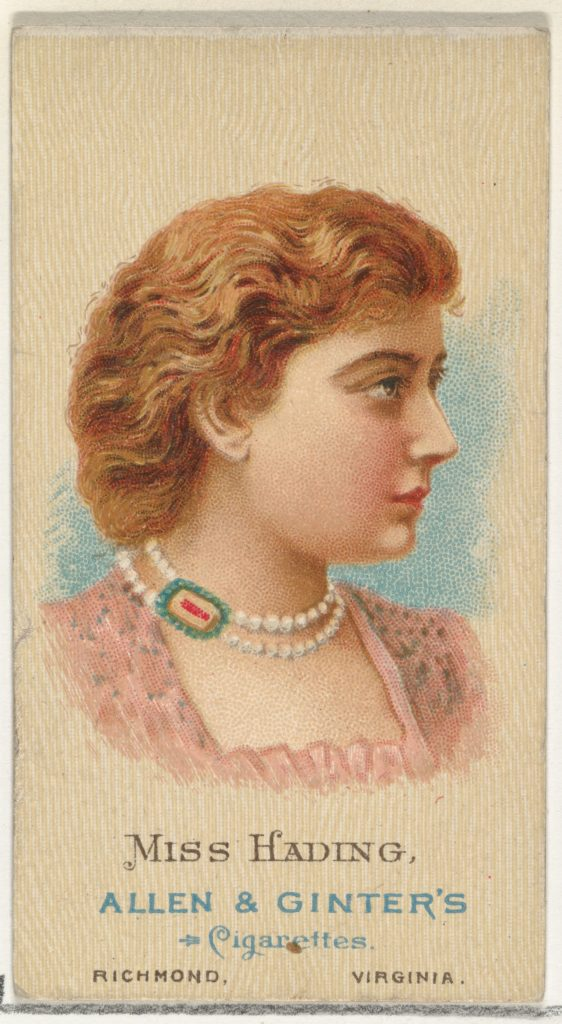 Miss Hading, from World's Beauties, Series 2 (N27) for Allen & Ginter Cigarettes