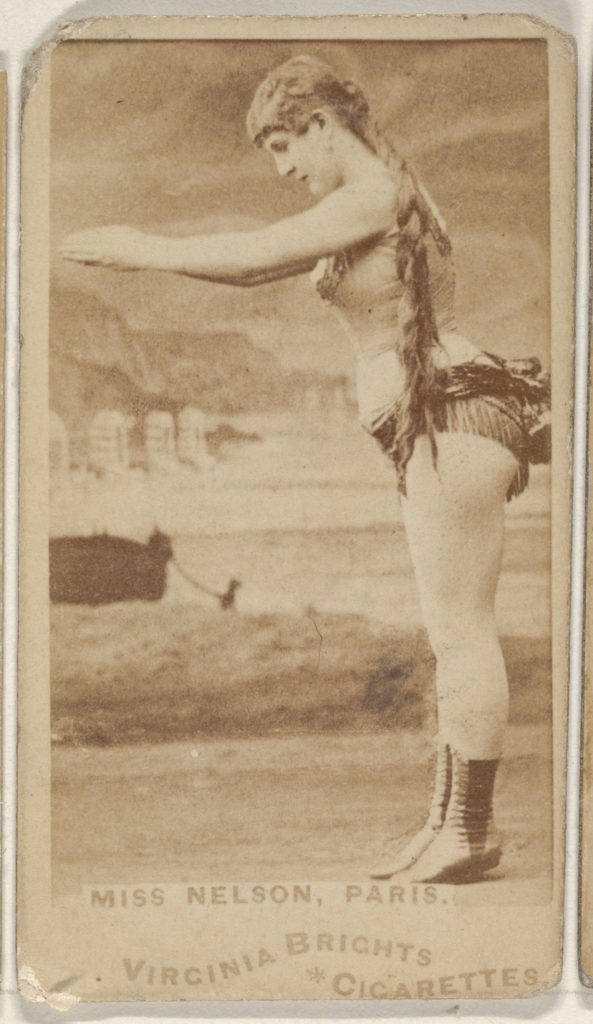 Miss Nelson, Paris, from the Actors and Actresses series (N45, Type 1) for Virginia Brights Cigarettes