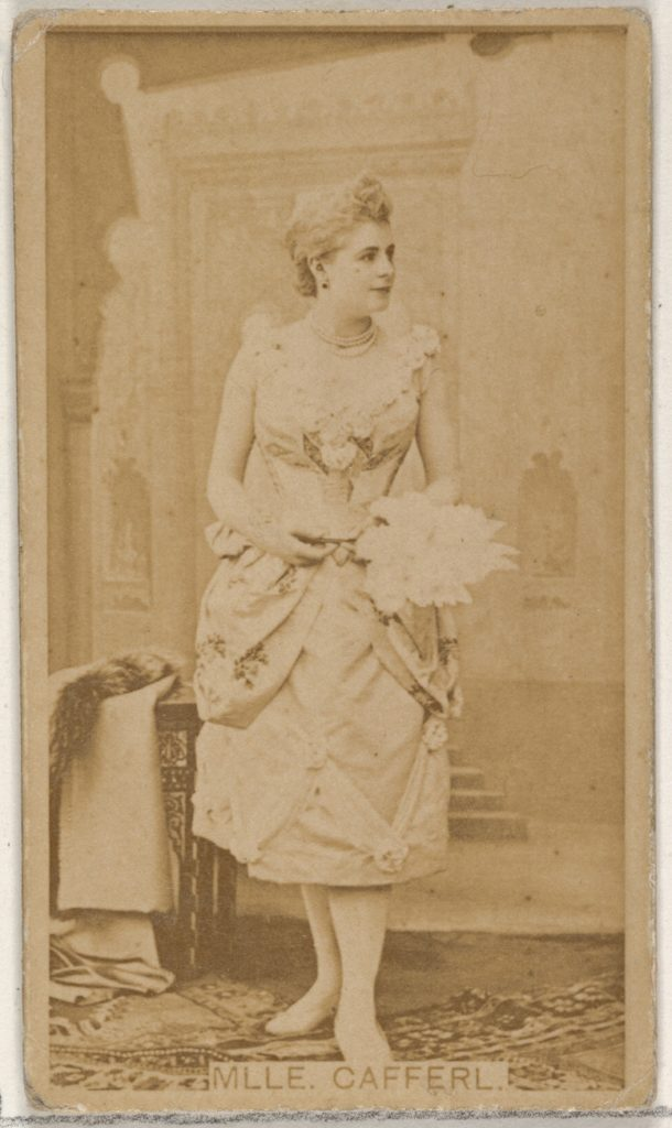 Mlle. Cafferl, from the Actors and Actresses series (N45, Type 8) for Virginia Brights Cigarettes