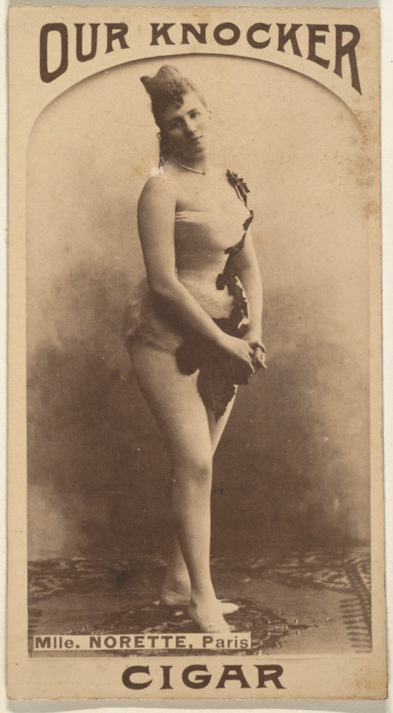 Mlle. Norette, Paris, from the Actresses series (N665) promoting Our Knocker Cigars