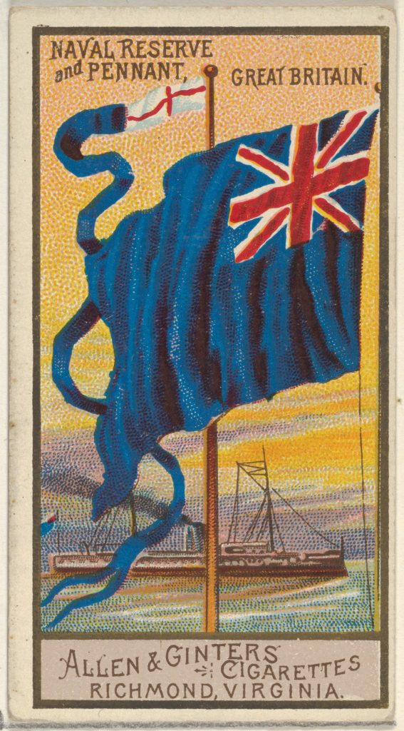 Naval Reserve and Pennant, Great Britain, from the Naval Flags series (N17) for Allen & Ginter Cigarettes Brands