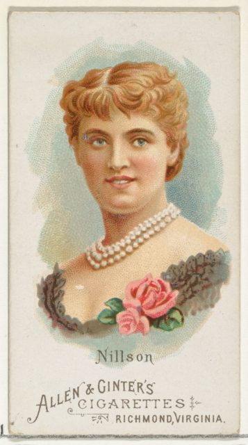 Nillson, from World's Beauties, Series 1 (N26) for Allen & Ginter Cigarettes