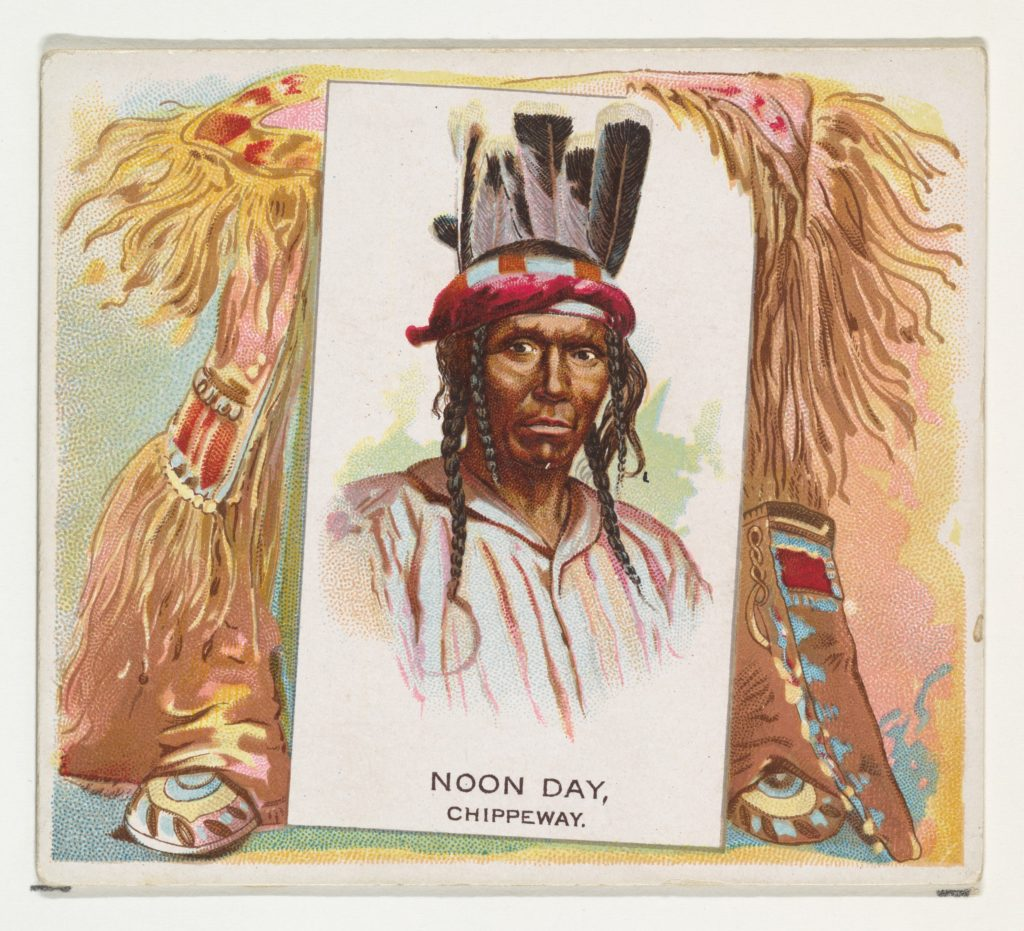 Noon Day, Chippeway, from the American Indian Chiefs series (N36) for Allen & Ginter Cigarettes