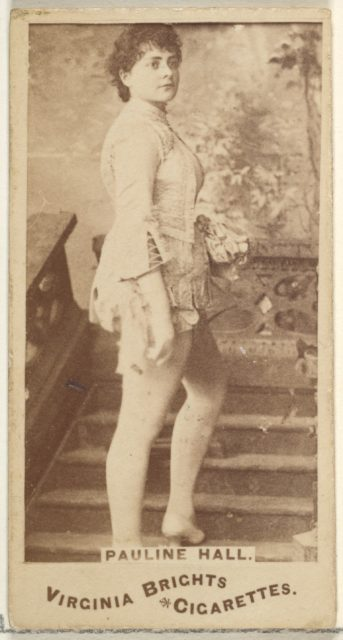 Pauline Hall, from the Actors and Actresses series (N45, Type 1) for Virginia Brights Cigarettes