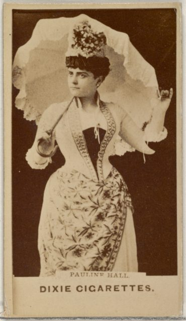 Pauline Hall, from the Actors and Actresses series (N45, Type 7) for Dixie Cigarettes
