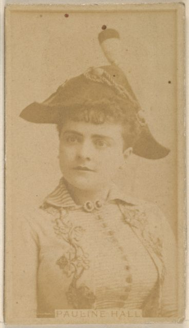 Pauline Hall, from the Actors and Actresses series (N45, Type 8) for Virginia Brights Cigarettes