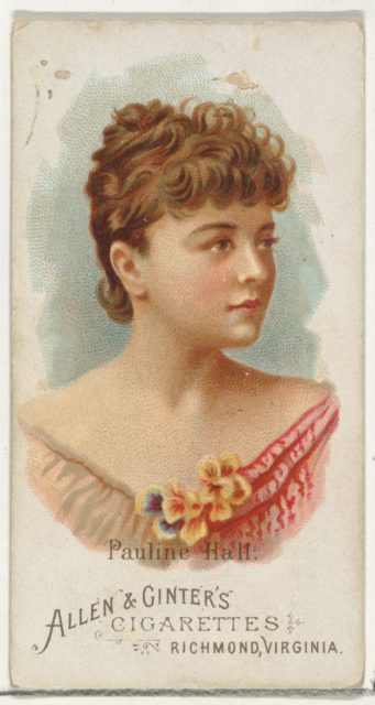 Pauline Hall, from World's Beauties, Series 1 (N26) for Allen & Ginter Cigarettes