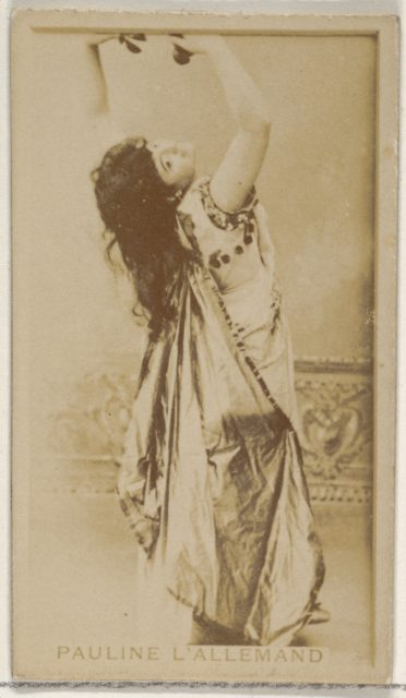 Pauline L' Allemand, from the Actors and Actresses series (N45, Type 8) for Virginia Brights Cigarettes