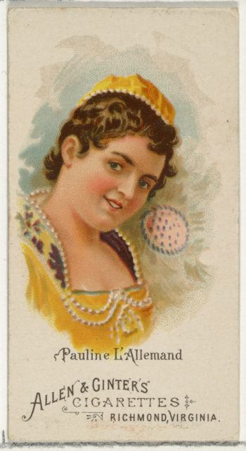 Pauline L'Allemand, from World's Beauties, Series 1 (N26) for Allen & Ginter Cigarettes