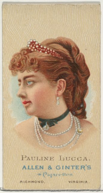 Pauline Lucca, from World's Beauties, Series 2 (N27) for Allen & Ginter Cigarettes