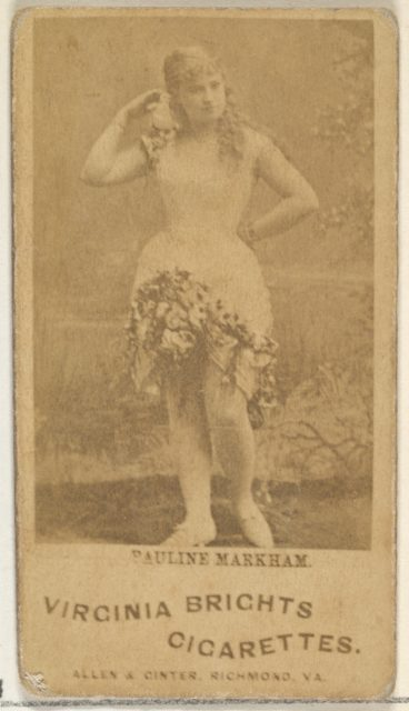 Pauline Markham, from the Actors and Actresses series (N45, Type 1) for Virginia Brights Cigarettes