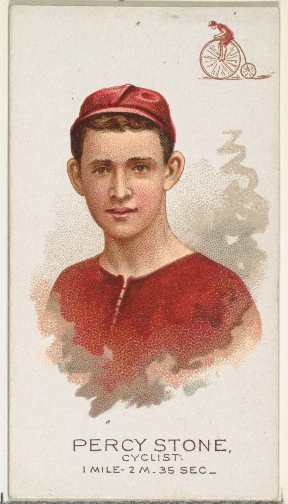 Percy Stone, Cyclist, from World's Champions, Series 2 (N29) for Allen & Ginter Cigarettes