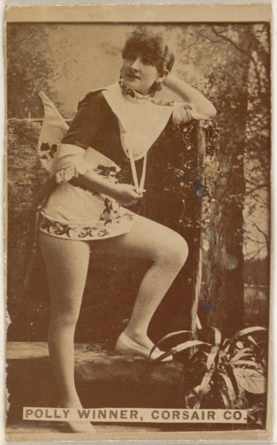 Polly Winner, Corsair Co., from the Actors and Actresses series (N45, Type 6) for Virginia Brights Cigarettes
