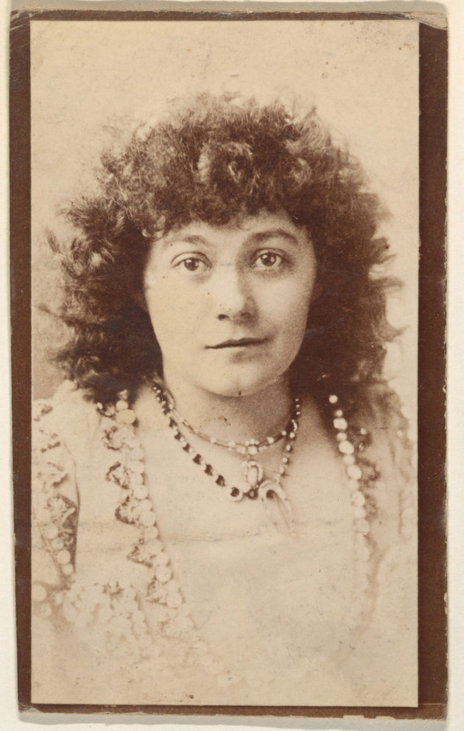 Portrait of actress wearing multiple necklaces, from the Actresses series (N668)