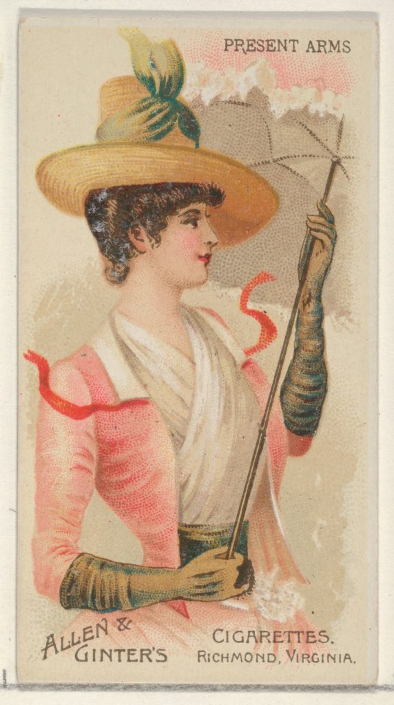 Present Arms, from the Parasol Drills series (N18) for Allen & Ginter Cigarettes Brands