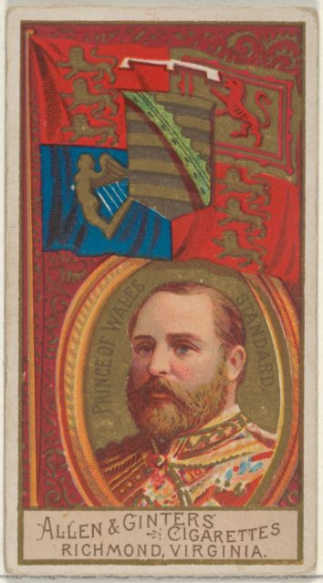 Prince of Wales Standard, from the Naval Flags series (N17) for Allen & Ginter Cigarettes Brands