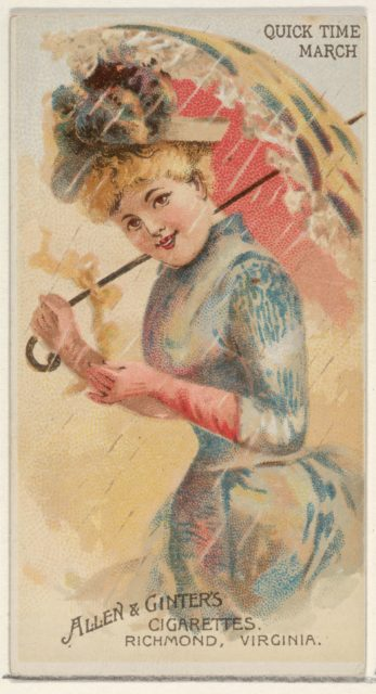 Quick Time March, from the Parasol Drills series (N18) for Allen & Ginter Cigarettes Brands