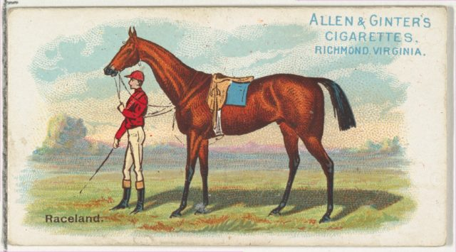 Raceland, from The World's Racers series (N32) for Allen & Ginter Cigarettes