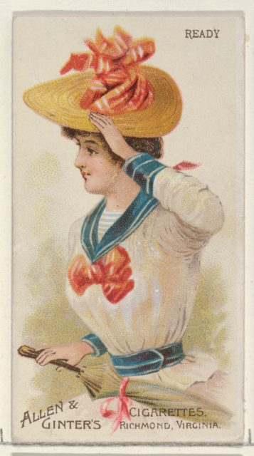 Ready, from the Parasol Drills series (N18) for Allen & Ginter Cigarettes Brands
