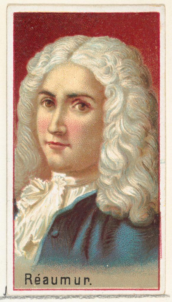 René Antoine Ferchault de Réaumur, printer's sample for the World's Inventors souvenir album (A25) for Allen & Ginter Cigarettes