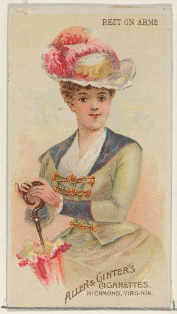 Rest on Arms, from the Parasol Drills series (N18) for Allen & Ginter Cigarettes Brands