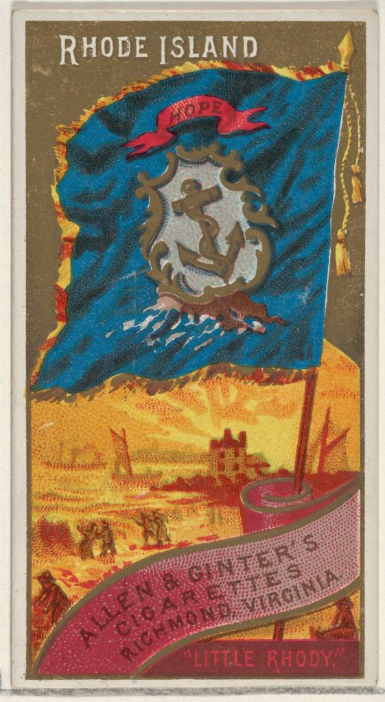 Rhode Island, from Flags of the States and Territories (N11) for Allen & Ginter Cigarettes Brands