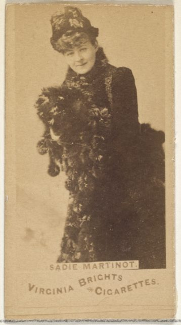 Sadie Martinot, from the Actors and Actresses series (N45, Type 1) for Virginia Brights Cigarettes