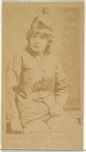 Sally Haines, from the Actors and Actresses series (N45, Type 1) for Virginia Brights Cigarettes