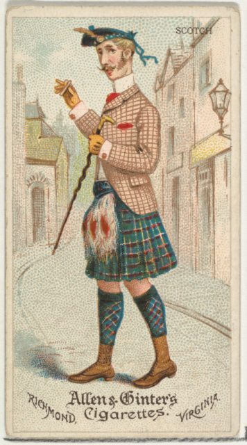 Scotch, from World's Dudes series (N31) for Allen & Ginter Cigarettes