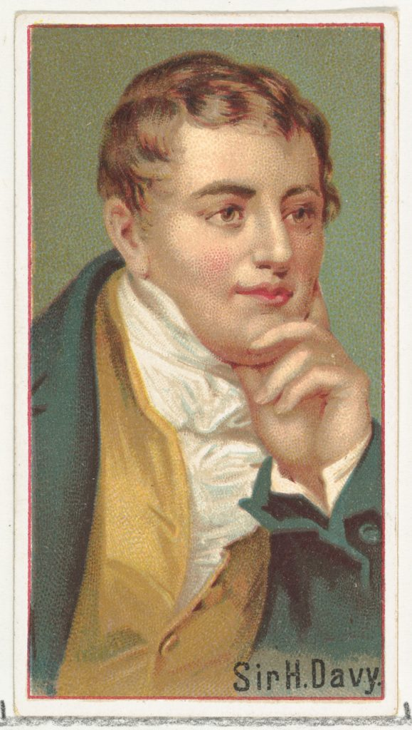 Sir H. Davy, printer's sample for the World's Inventors souvenir album (A25) for Allen & Ginter Cigarettes