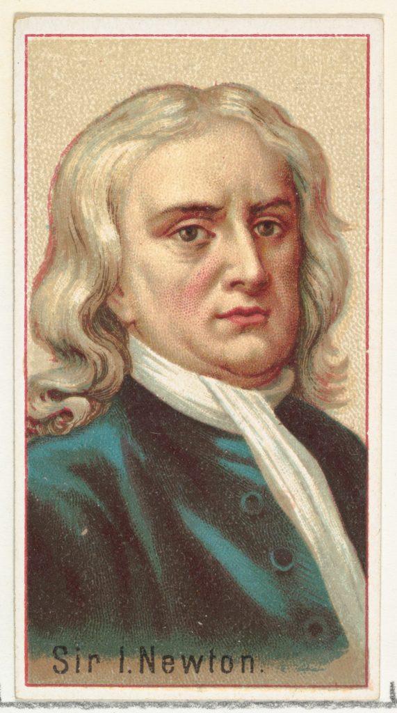 Sir Isaac Newton, printer's sample for the World's Inventors souvenir album (A25) for Allen & Ginter Cigarettes