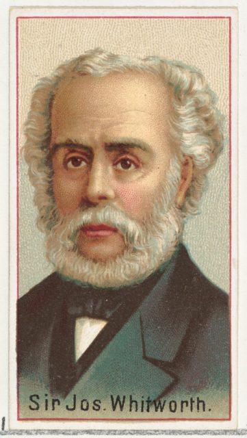 Sir Joseph Whitworth, printer's sample for the World's Inventors souvenir album (A25) for Allen & Ginter Cigarettes