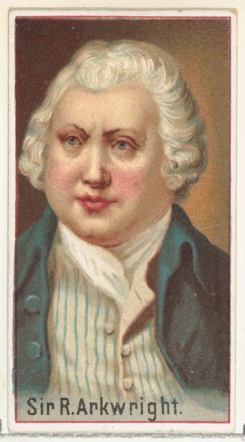 Sir R. Arkwright, printer's sample for the World's Inventors souvenir album (A25) for Allen & Ginter Cigarettes