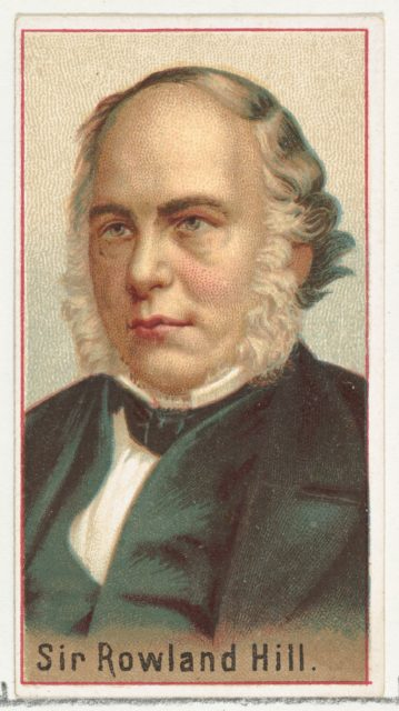 Sir Rowland Hill, printer's sample for the World's Inventors souvenir album (A25) for Allen & Ginter Cigarettes