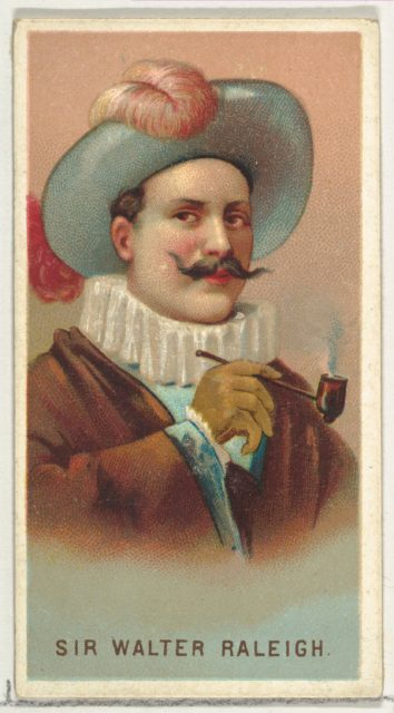 Sir Walter Raleigh, from World's Smokers series (N33) for Allen & Ginter Cigarettes