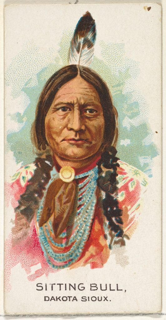Sitting Bull, Dakota Sioux, from the American Indian Chiefs series (N2) for Allen & Ginter Cigarettes Brands