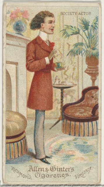 Society Actor, from World's Dudes series (N31) for Allen & Ginter Cigarettes