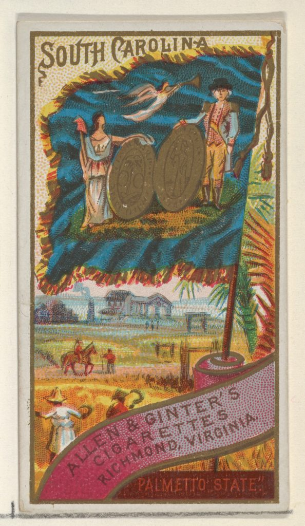 South Carolina, from Flags of the States and Territories (N11) for Allen & Ginter Cigarettes Brands