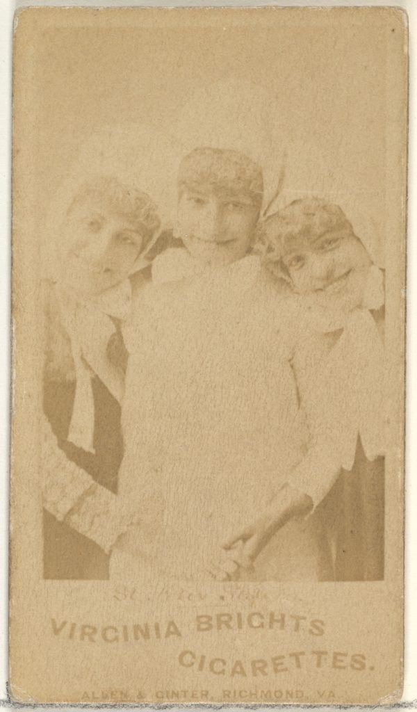 St. Felix Sisters, From the Actors and Actresses series (N45, Type 1) for Virginia Brights Cigarettes