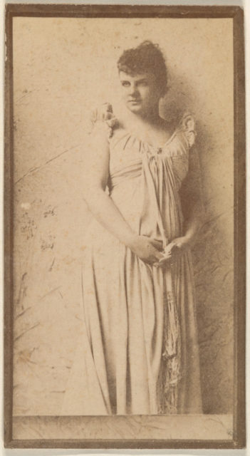 Standing actress in simple white gown, from the Actresses series (N668)