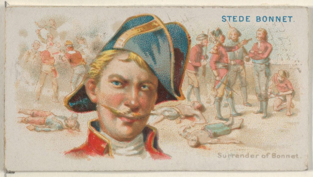 Stede Bonnet, Surrender of Bonnet, from the Pirates of the Spanish Main series (N19) for Allen & Ginter Cigarettes