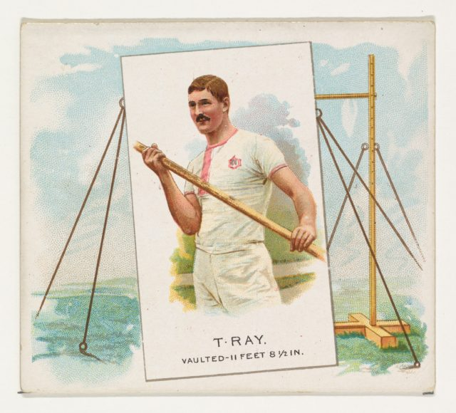 T. Ray, Pole Vault, from World's Champions, Second Series (N43) for Allen & Ginter Cigarettes