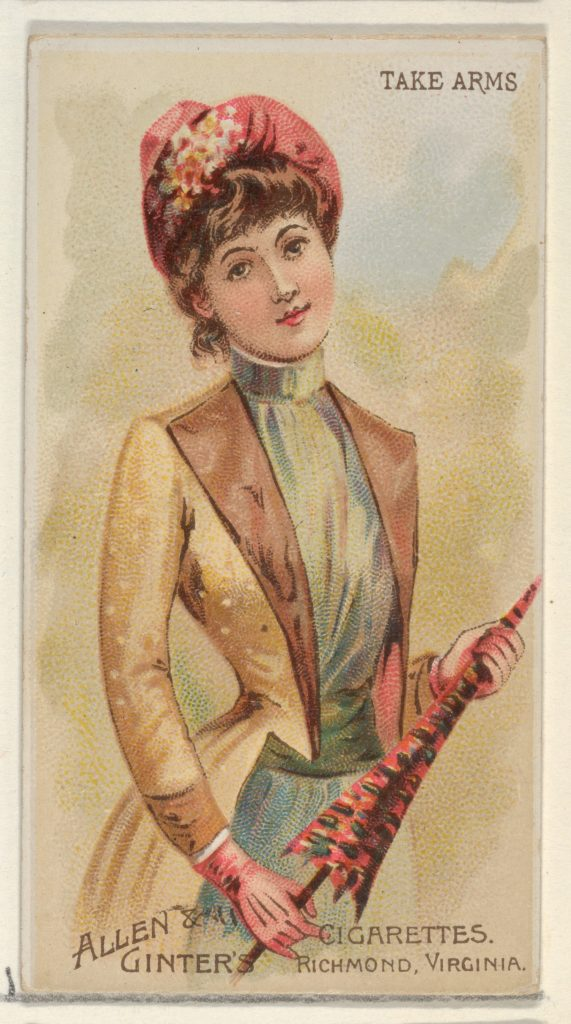 Take Arms, from the Parasol Drills series (N18) for Allen & Ginter Cigarettes Brands