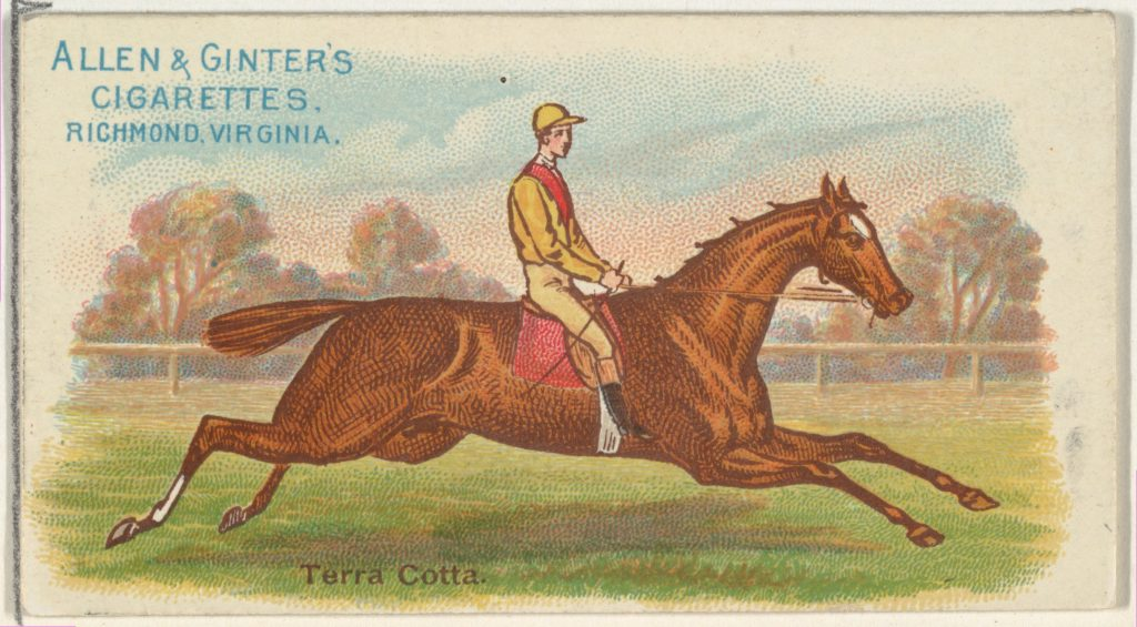 Terra Cotta, from The World's Racers series (N32) for Allen & Ginter Cigarettes
