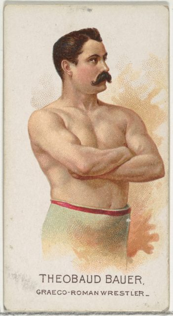 Theobaud Bauer, Greco-Roman Wrestler, from World's Champions, Series 2 (N29) for Allen & Ginter Cigarettes