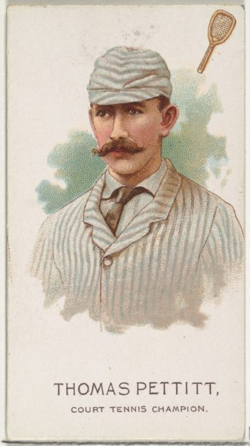 Thomas Pettit, Court Tennis Champion, from World's Champions, Series 2 (N29) for Allen & Ginter Cigarettes