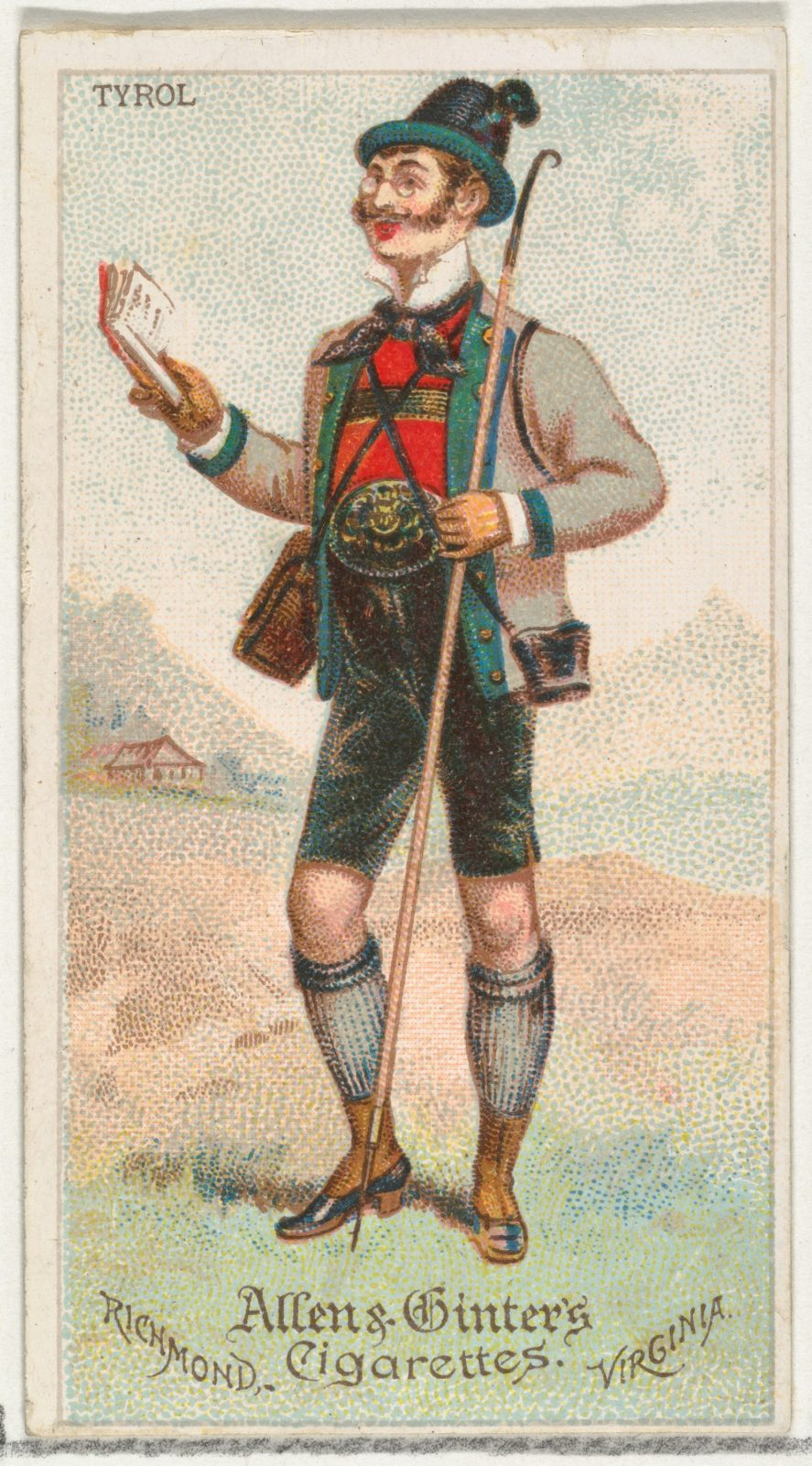 Tyrol, from World's Dudes series (N31) for Allen & Ginter Cigarettes